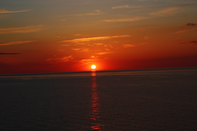 sunset in the Baltic sea