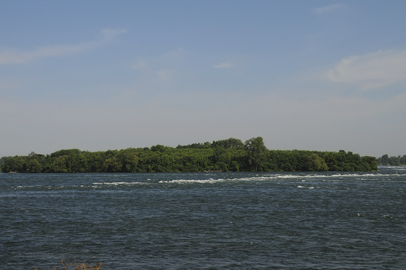 Saint-Lawrence river fast water
