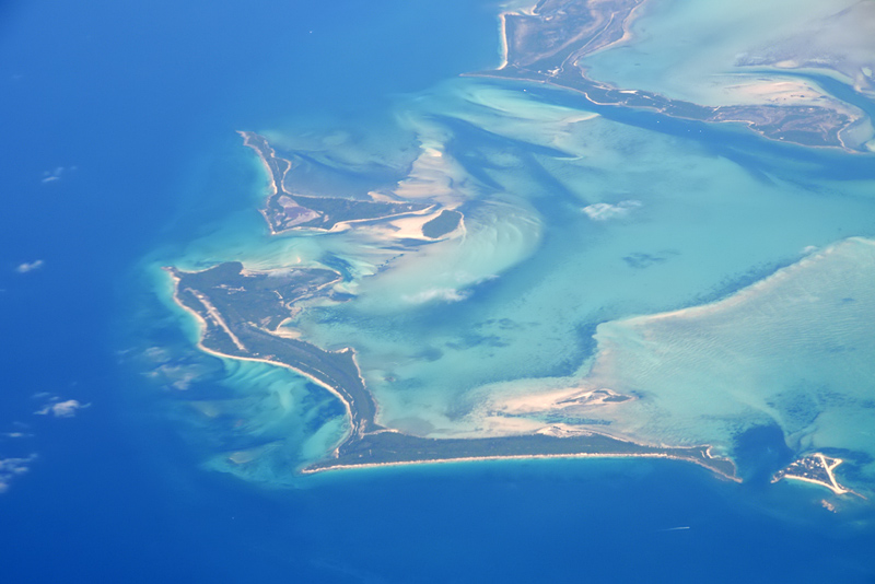 Whale Cay from the air
