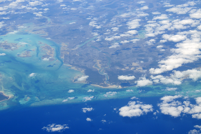 Andros Island from the air
