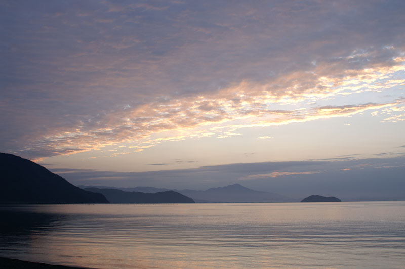 Dawn at the Lake Biwa