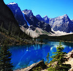 Title: Lake Moraine with Valley ofthe Ten Peaks