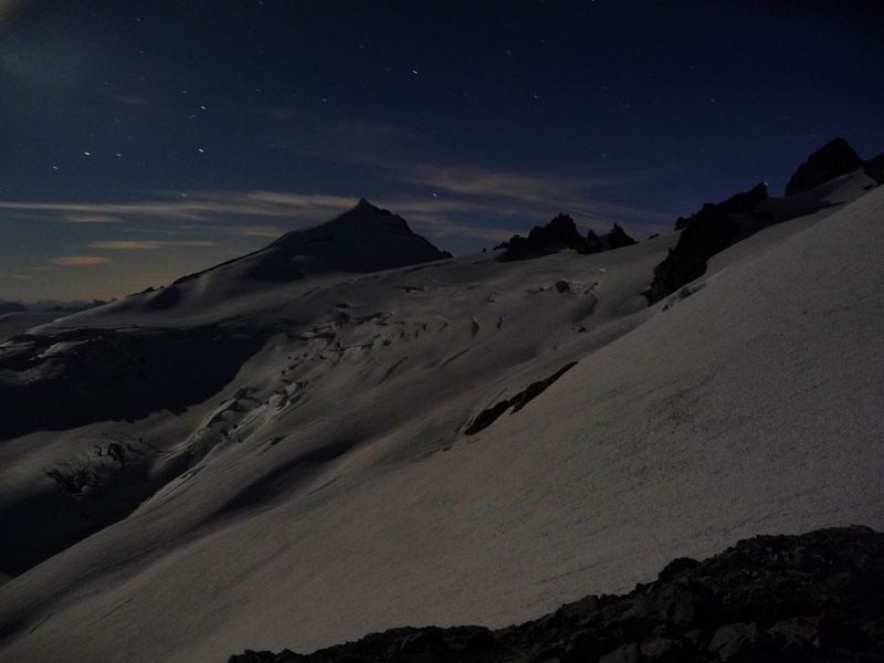 Eldorado Peak at Night