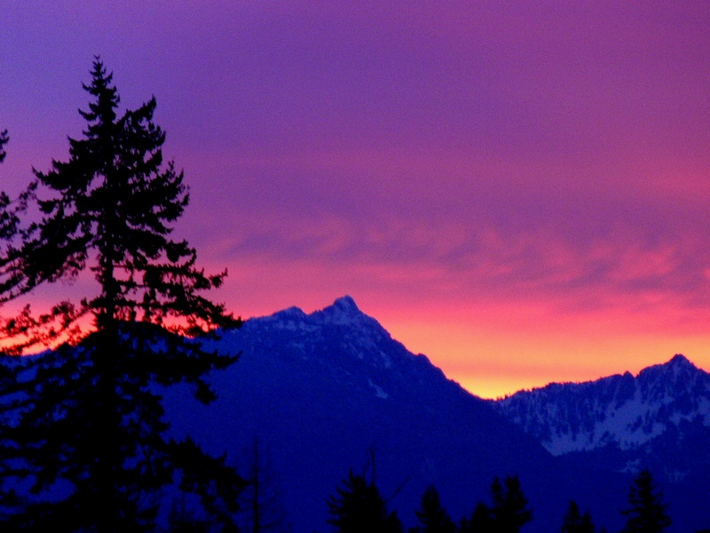 Mount Stickney at Sunrise