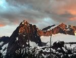 Title: Sperry and Vesper Peak at Sunset