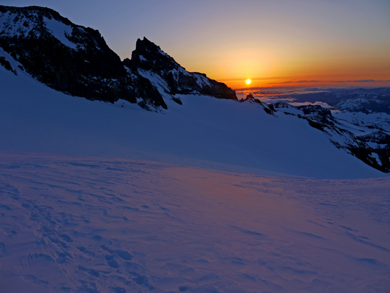 Sunrise from Camp Muir