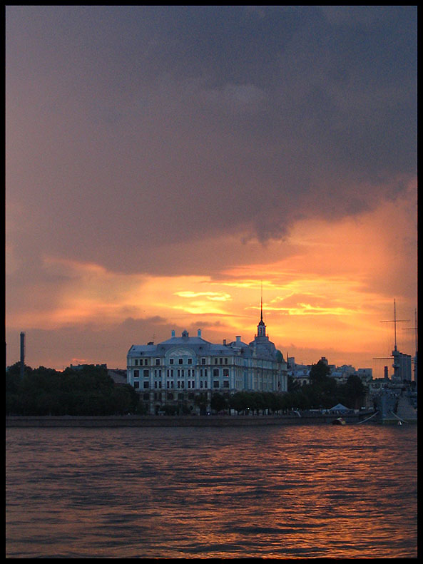 sunset in st.petersburg
