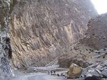 Title: Sheer Size of Dhana Sar Rock Face