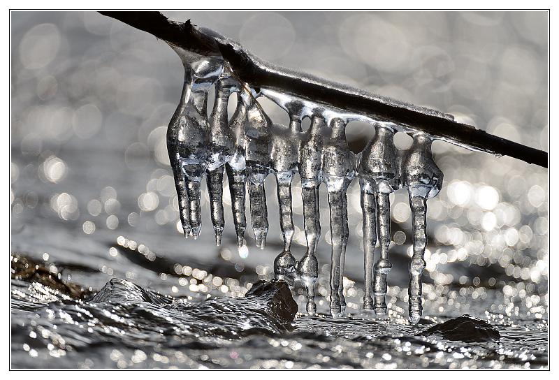 Icicles against sunlight