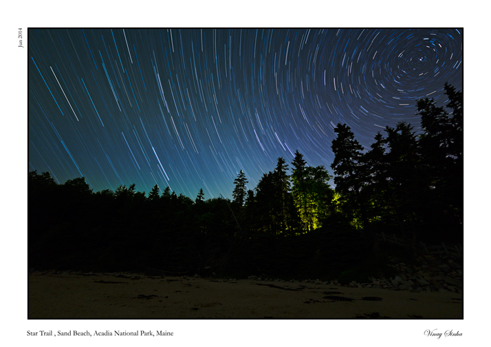Star Trail at Acadia, Maine