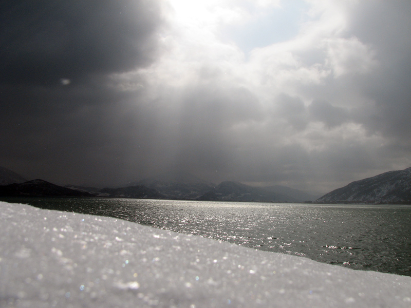 Winter, Egirdir lake