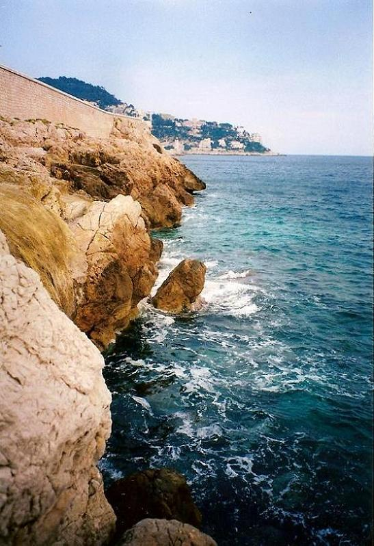 Sea and Rocks in Nice