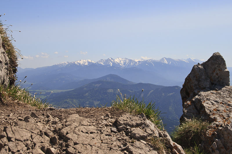 Tatras mountains from Velky Choc (1611m)