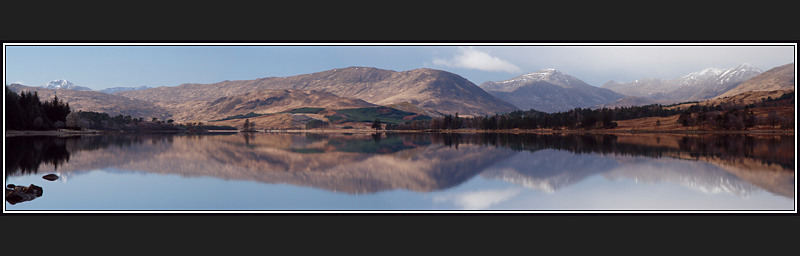 Loch Tulla Panoramic Reflection