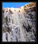 Title: Frozen WaterfallFuji FinePix