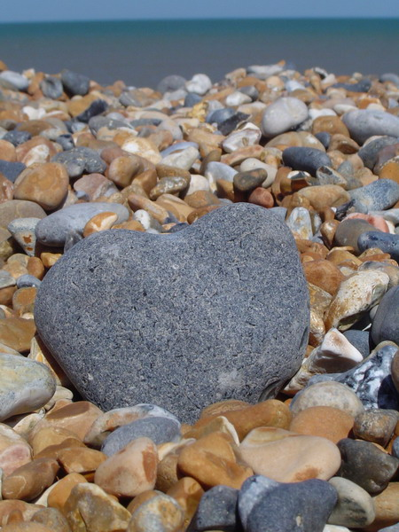 Heart made out of stone