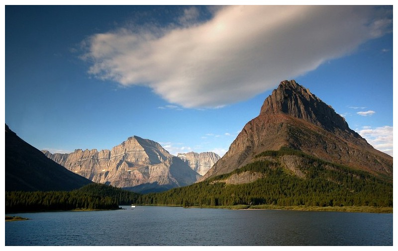 Swiftcurrent Lake and Grinnell peak #3