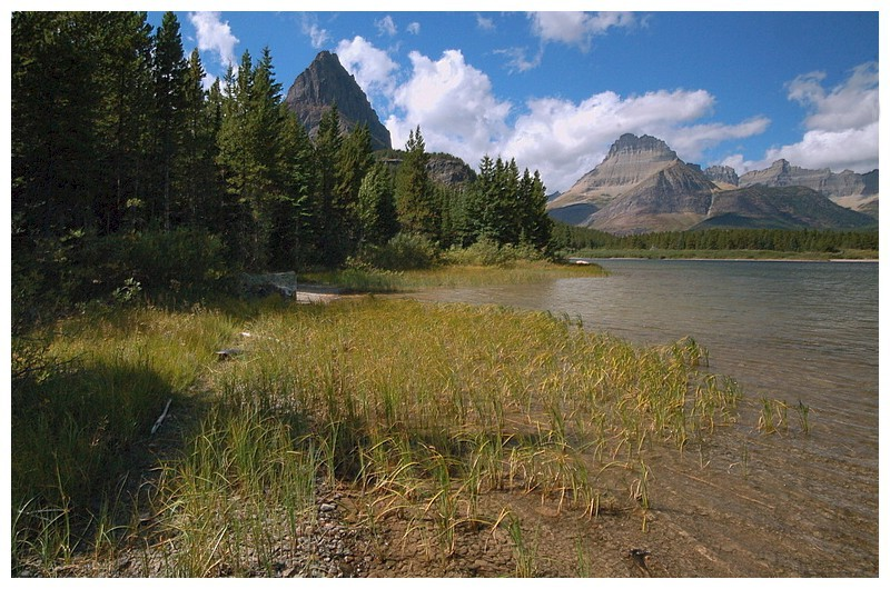 Swiftcurrent Lake and Grinnell peak
