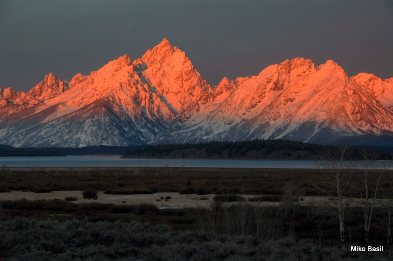 Sunrise on the Grand Tetons