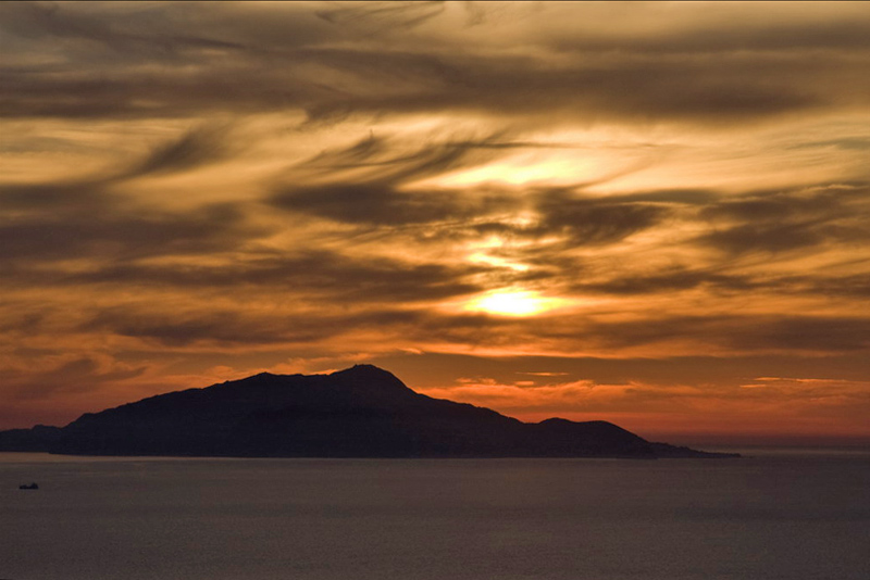 Sunset Over Mount Vesuvius