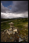 Title: Dark clouds over Dovrefjell
