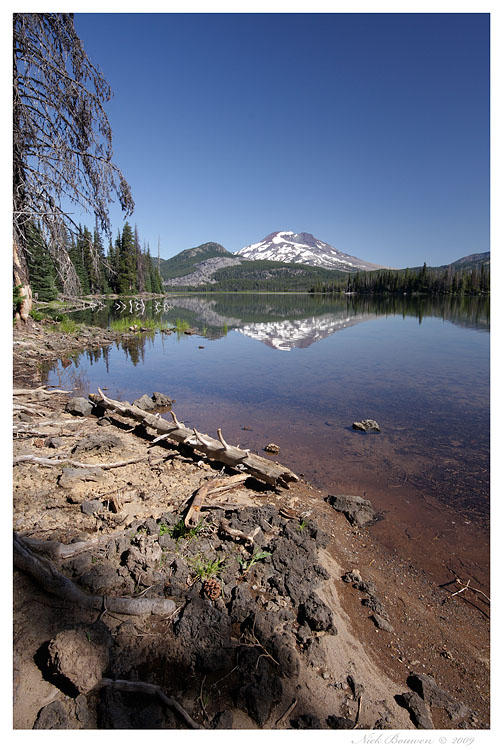 South Sister at Sparks Lake