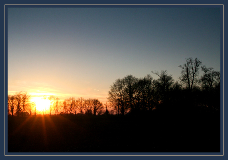 Sunset on Twente