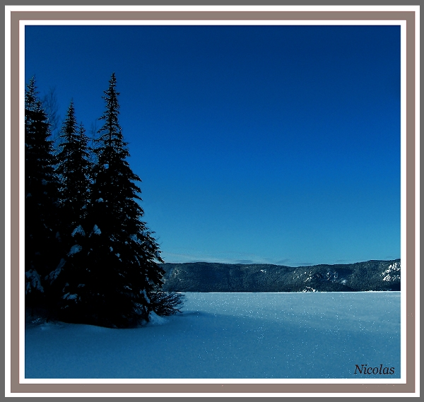 Blue like snow
