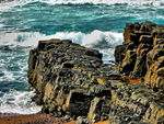 Title: Rock and Waves