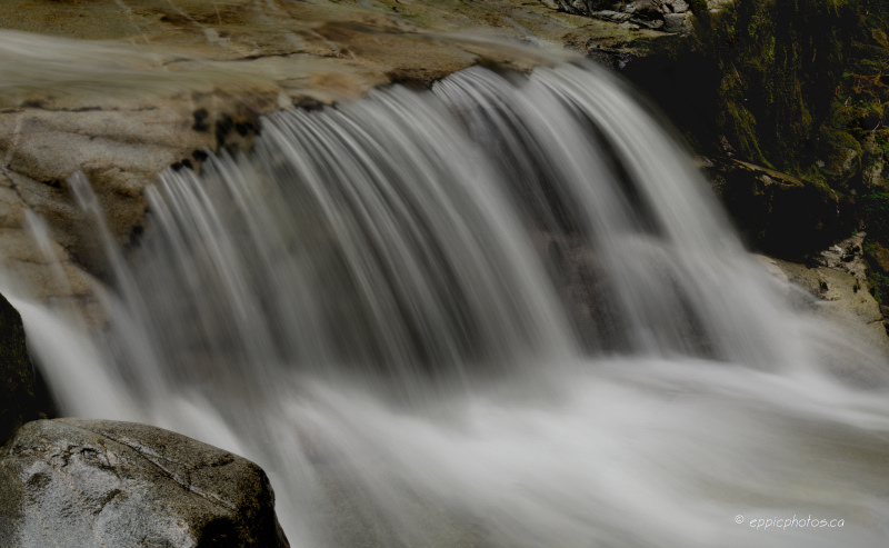 A waterfall pano