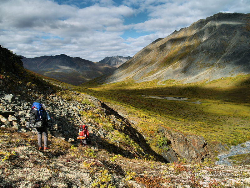 Hiking into the Klondike Valley