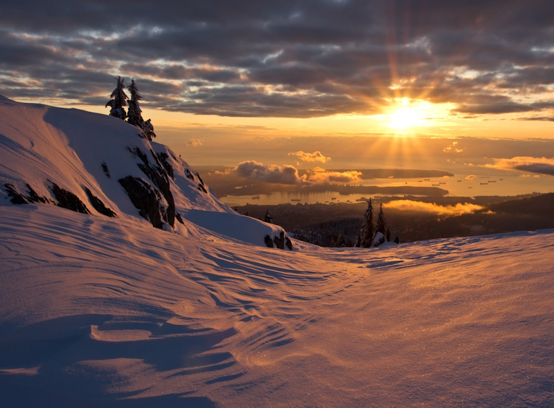 Mt. Seymour sunset