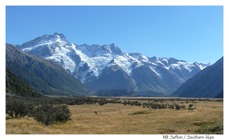 Mt Sefton in the Southern Alps