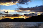 Title: Setting Sun at Lake Waikaremoana
