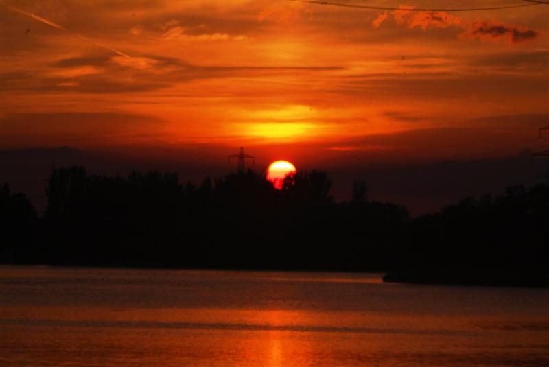 Sunset at Sale Water Park