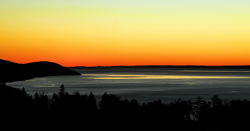 Sunrise over the St. Lawrence