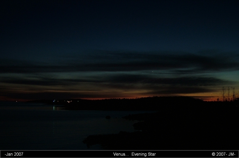 Venus: here as the Evening Star...
