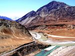 Title: Confluence of Indus with Zanskar River