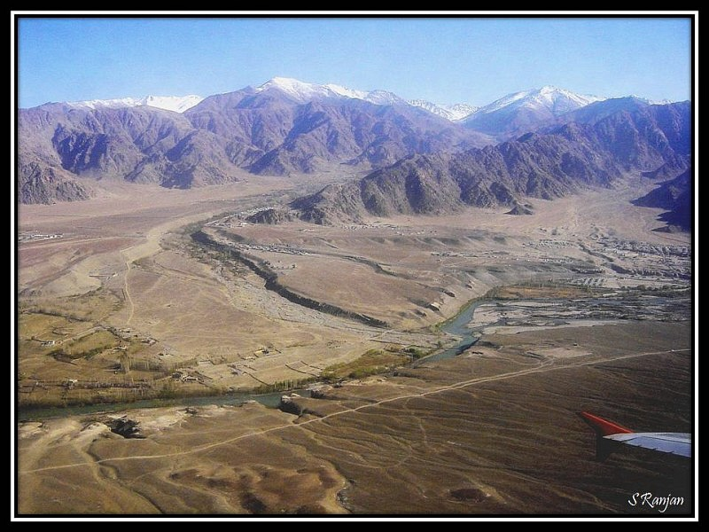 Terrain before landing in Leh