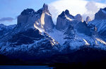 Title: Early Light on the Cuernos del Paine