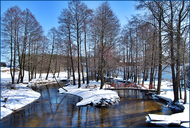 Winter river Rospuda
