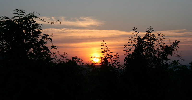 sunset somwhere in Romania