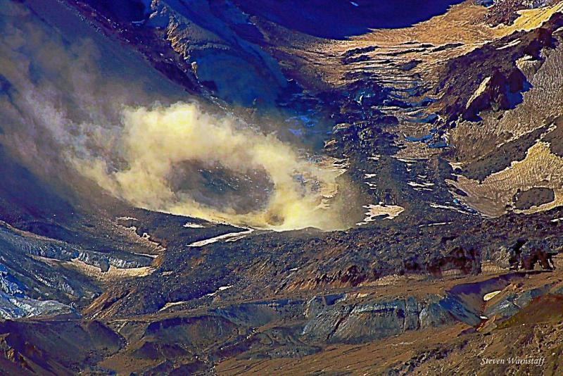 Mt. St. Helens Crater's New Vent